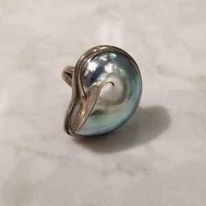 Jewelry - Nautilus Shell and Sterling Silver Ring